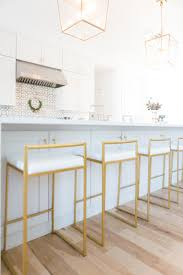gold counter stools. 10 Affordable Gold Bar Stools For Home Design Large Quartz Waterfall Kitchen Island Langern Light Counter
