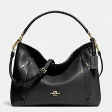 Sale Hot Shows Coach Scout Hobo In Pebble Leather