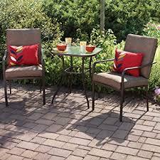Amazoncom Crossman 3 Piece All Weather Square Outdoor Bistro Bistro Furniture Outdoor