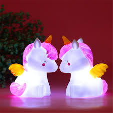 2019 Led Unicorn Nightlight Baby Room Luminaria Dinosaur Table Lamp