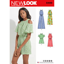 New Look Patterns Simple New Look 48 Misses' Jumpsuit Romper And Dress