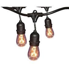 Lighting Hampton Bay 24 Ft Black Commercial String Light Gls 14j2 E26s 12