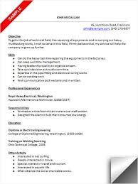 Resume Objective For Maintenance Technician Maintenance Technician Resume Sample 2