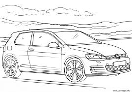 Coloriage Voiture Volkswagen Golf Gti Dessin