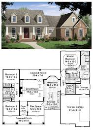 one story house plans with porch lovely cape cod craftsman traditional house plan of 24 best