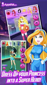 super hero princess dress up little beauty makeover games for free screenshot 4