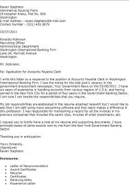 Accounting Clerk Cover Letter Cover Letter For Accounting Clerk