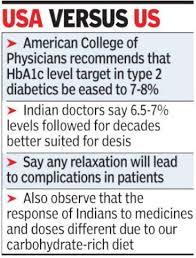 A1c Levels Chart For Diabetics Indian Doctors Oppose New Diabetes Norms Mumbai News
