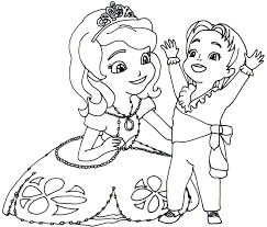 Princess Sofia Coloring Page Free Printable Pages Best Of The First