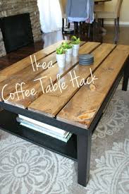 ... Coffee Table, Popular White And Brown Rectangle Ancient Wood IKEA Lack Coffee  Table With Storage ...