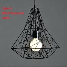 wrought iron lamp fixtures wall lighting black ceiling modern bird cage pendant lights retro loft