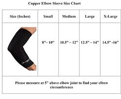 Elbow Sleeve Size Chart Copper Elbow Sleeve The Best Compression Arm Sleeve Great For Tennis Weightlifting Golf Baseball Basketball Click The Yellow Button At The