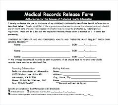 Sample Medical Records Release Form Medical Release Form Template Pdf Records Patient