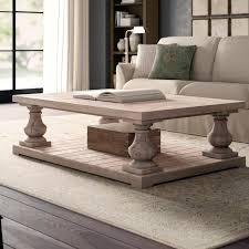 coffee table weathered wood finish