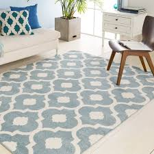 geometric area rugs ebern designs sawyer light blue rug reviews wayfair