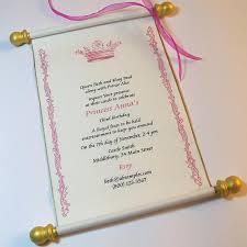 Scroll Birthday Invitations Royal Princess Invitation Scroll In Pink And Gold Princess Birthday