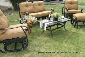 garden cast aluminum set furniture
