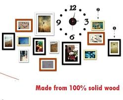 picture frames on wall. Wood Picture Frames Wall Decoration \u0026 Clock Hanging Template Accessories On