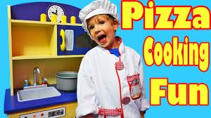 Kids Kitchen Pretend Play Kitchen Set Toy Food Pizza Chips Kid Cooking