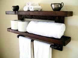 towel storage above toilet. Towel Shelf Over Toilet Floating Shelves Bathroom Rack  Wall Wood Storage Above R