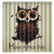 have a nice day owl design shower curtain jpg