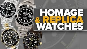 Homage, Fake, and Replica Watches (Lawsuits, Industry Examples, & My  Opinion) - YouTube