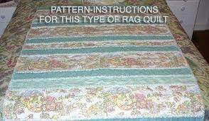 Ashlawnfarms Toile Strip Rag Quilt Pattern Instructions PDF &  Adamdwight.com