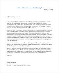 Recommendation Letter For Visa Application Letter Of Recommendation For Visa Letter Template