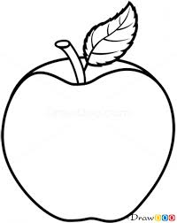 apple fruit black and white. full size of coloring page:apple fruit drawing engaging apple step 08 png black and white