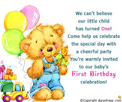 birthday invite ecards first birthday invitation wording 1st birthday invitation message