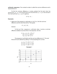 Arithmetic Sequence Worksheet Answers All These Sequences Are ...