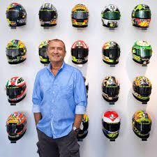 The stories and designs behind his motogp helmets. Aldo Drudi Valentino Rossi Helmets