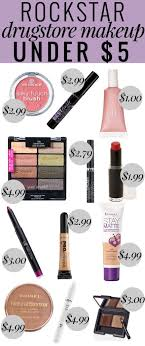 full face makeup list. rockstar drugstore makeup under $5 - this list has everything for a full face of cheap c