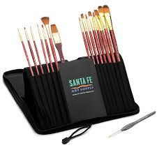 com santa fe art supply best quality artist brush set for acrylic watercolor