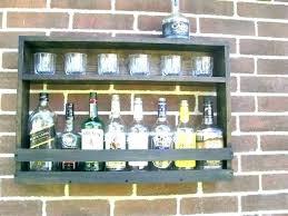 wall rustic bar shelves wood mounted liquor shelf design