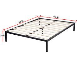 Factory Direct: Platform Bed Frame Queen Size Mattress Foundation ...