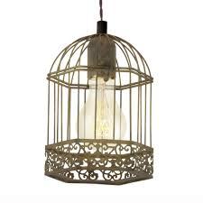 harling rusty bird cage lantern style pendant light