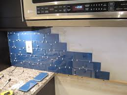 Installing A Glass Tile Backsplash Beauteous How To Install A Glass Tile Backsplash Armchair Builder Blog