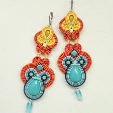 colorful soutache earrings colorful earrings statement earrings big chandelier earrings big earrings multicolor earrings long earrings