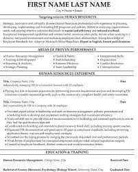 Human Resource Resume Professional Resume Templates