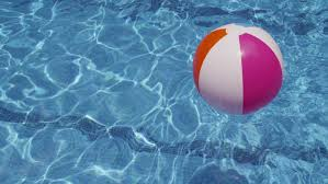 Interesting Beach Ball In Pool Colorful Floating Shot On With Simple Ideas