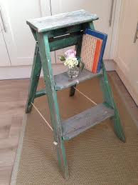 vintage 3 step wooden ladder or bookshelf