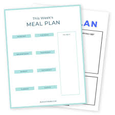 Weekly Meal Planner Template With Grocery List Pdf Free
