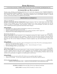 Retail Management Resume Samples Resume Objective Examples Production Manager Fresh Retail Management 2