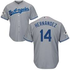 Replica Hernandez Jersey Men's Base 14 Road Mlb Grey Majestic Enrique Cool Dodgers Angeles Los fccbcaffba Playoff Schedule Updates For Patriots, Falcons In AFC & NFC Championship Game