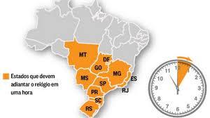 Resultado de imagem para HORÁRIO DE VERÃO NO BRASIL TEM INÍCIO À 0H DE DOMINGO EM 11 ESTADOS