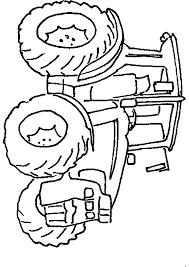 Coloriage De Tracteur John Deere Avec Remorque A Imprimer