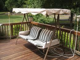 garden treasures 3 person cushion traditional swing reviews