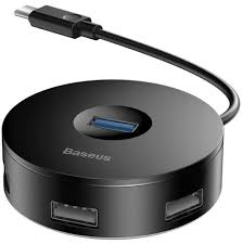 <b>концентратор USB</b> 3.0 <b>Baseus</b> round box HUB adapter Type-C black