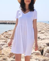 diy t shirt dress from two l men s t shirts